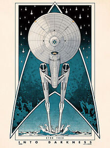 A3 Star Trek Into the Darkness Poster Print Art Nouveau STI01 BUY 2 GET 3RD FREE