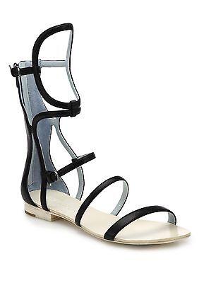 DANNIJO Ilsa Black Leather Gladiator Flat Sandals Shoes Sz 7 NIB $595