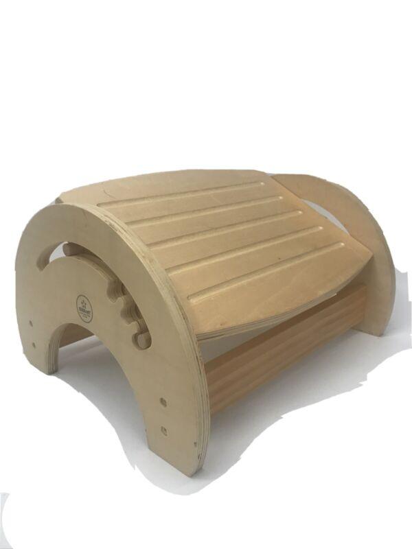 Kidcraft Adjustable Pine Wood Foot Stool~Nursing Druming Playing Guitar Reading