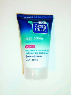 Clean & and Clear Deep Action Cream Cleanser Remove Dirt Tight Pores 1 fl.oz.
