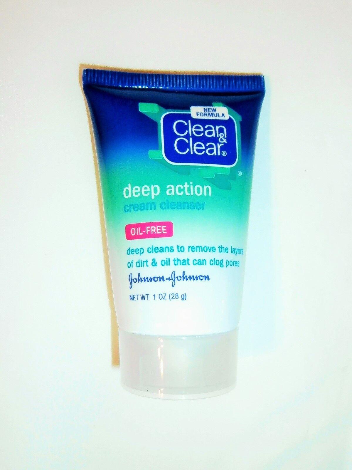 Clean & Clear Deep Action Cream Cleanser, 1 Oz