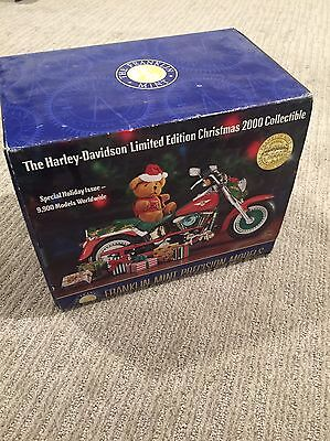 Harley Davidson Franklin Mint 2000 CHRISTMAS MOTORCYCLE Collectible