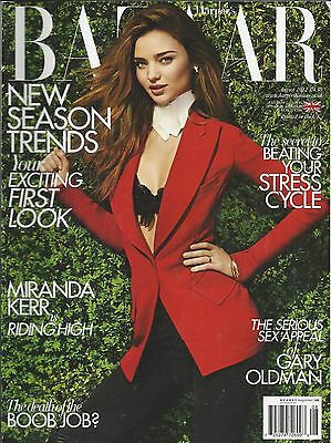 Harpers Bazaar Magazine Miranda Kerr Gary Oldman Season Trends Makeup Hair 2012