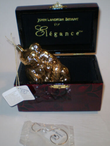 JLB NYC Ornament John Landrum Bryant Gold Gorilla Ornament in Box BEAUTIFUL