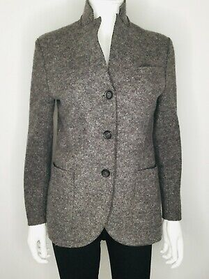 HARRIS WHARF LONDON Brown Size X Small Wool Blazer Jacket