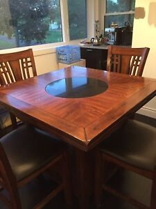 Hi Top Dining Table & 4 chairs
