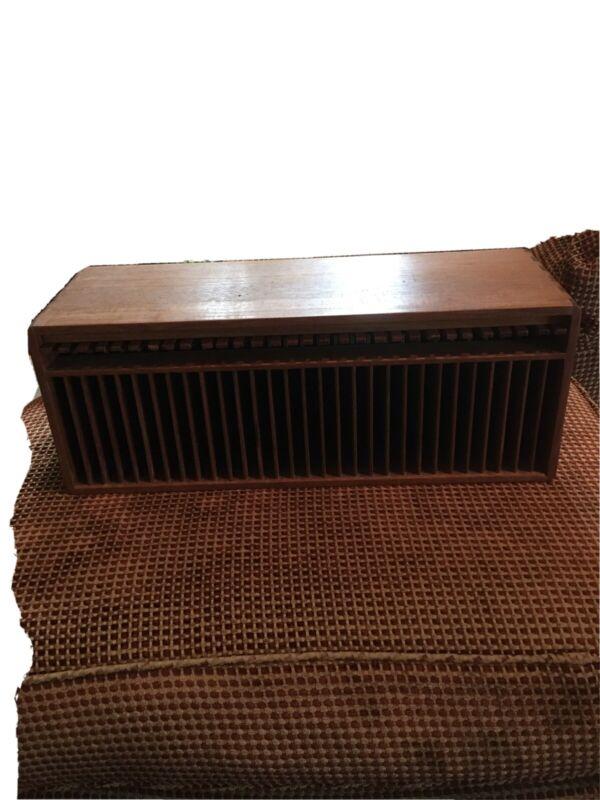 Vintage Kalmar Teak Wood CD Holder