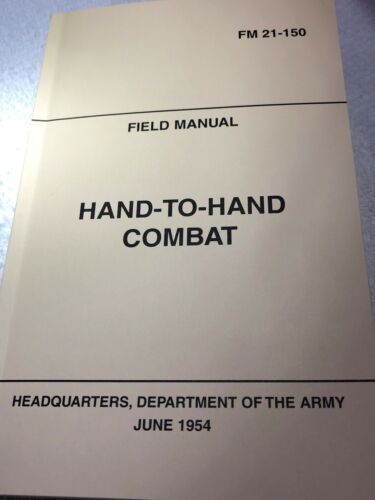 MANUAL FM21-150 JUNE 1954 BOOK HAND TO HAND COMBAT