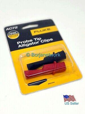 Fluke Ac72 Alligator Clip Set Original Brand New