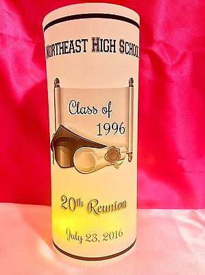 College Party Decorations (10 Personalized Class Reunion Luminaries Table Centerpieces Party Decorations)