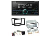 Kenwood Bluetooth MP3 USB AUX 2DIN Autoradio für Alfa Romeo Mito 08-14 955 ISO s