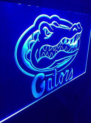 Florida Gators LED Neon Sign for Game Room,Office,Bar,Man Cave, New!