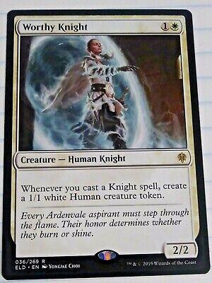 1x Worthy KnightThrone of EldraineMTG Magic Cards