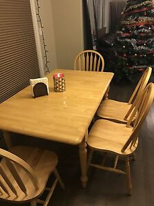 Solid wood dining set  Edmonton Edmonton Area image 2