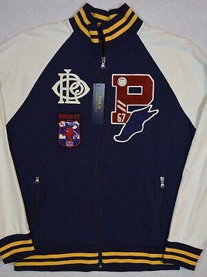 Polo Ralph Lauren PWING Collegiate Patch P67 Letterman Jacket L NWT