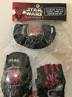 Darth Maul Gloves (Star Wars Darth Maul Elbow, Knee Pads Gloves Biking/Skating Kids Protective)