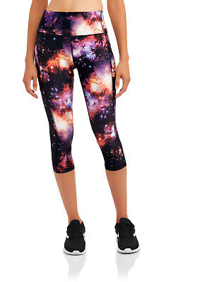 Avia Women's Activewear Play Capris Cosmic Space Size Large 12-14