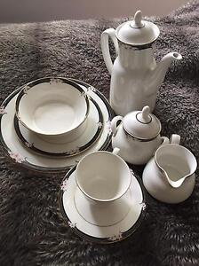 ROYAL DOULTON WHITE  8 piece dinner set - 1984 VOGUE collection Essendon North Moonee Valley Preview
