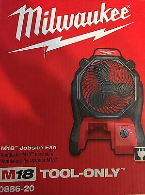 Milwaukee M18 Cordless Jobsite Fan Brand New In Box 0876-20 Bare Tool