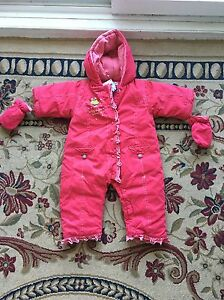 Baby girl new with tags snowsuit from Clement 12/18 M