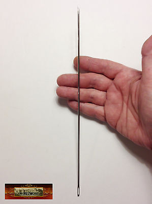 "M00635 MOREZMORE 10"" Sewing Needle Extra Long Doll Bear Upholstery Leather T20"