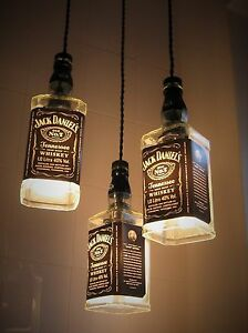 70cl Jack Daniels Upcycled Bottle Ceiling Lamp Pendant Light Shade Chandelier