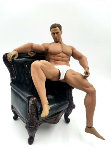 "1/6 Muscular Male Body Model Sketch Drawing Assistance Mannequin 12"" Doll Toy"