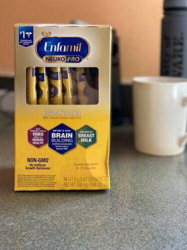 Enfamil NeuroPro Baby Formula Milk Powder, 14 Single Serve Packets  (17.6 Gram)