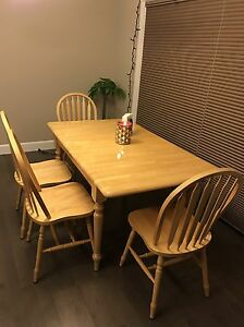 Solid wood dining set  Edmonton Edmonton Area image 1