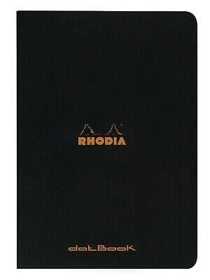 Rhodia Staplebound Notebook 8 14 X 11 34 Dot Grid Black