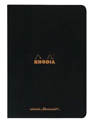 Rhodia Staplebound Notebook 6 X 8 14 Dot Grid Black