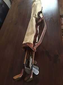 Vintage Hickory golf clubs
