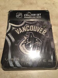 Brand new Vancouver Canucks drink coaster set