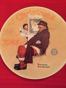 Norman Rockwell Christmas 1983 Plate