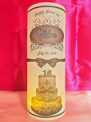 10 Personalized Sweet 16 Birthday Luminaries Table Centerpieces Party Decor - Sweet 16 Centerpiece