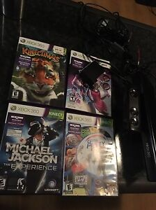 kinect avec 4 jeux  Kinect with 4 games