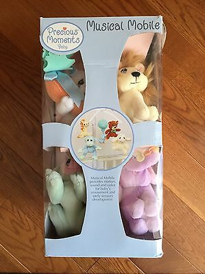 NEW Precious Moments Baby Crib Musical Mobile With Animals (bird, lamb & more)