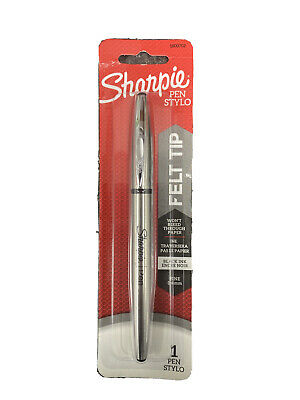 Sharpie Stainless Steel Grip Pen Fine Point 0.4mm Black Ink