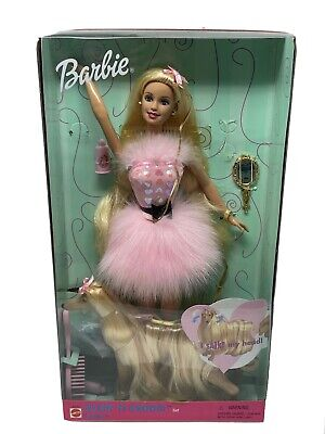 Barbie Glam N' Glroom Lacey Doll with Dog Set 1999 Toy New Vintage 27271