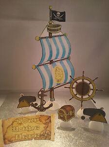 Pirate Ship Sail Set **WAFER** Edible Cake Decoration Set
