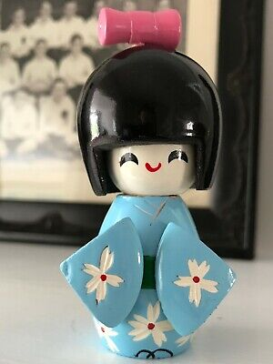 Vintage Painted Wooden JAPANESE Kokeshi Doll - Great Condition