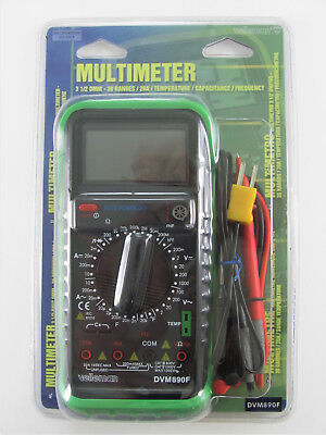 Velleman Digital Multimeter Dvm890f - 30 Ranges Temp Capacitance Frequency