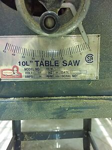 """Tooled 10"""" table saw London Ontario image 2"""