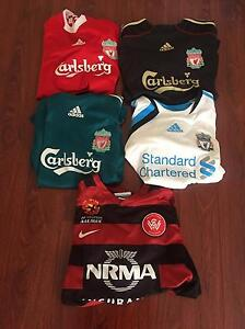 Liverpool fc & wanderers soccer jersey ( pre owned) Yagoona Bankstown Area Preview