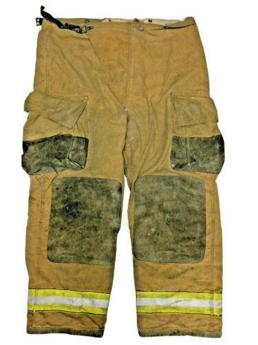 46x30 Globe Brown Firefighter Turn Out Pants with Yellow Tape No Liner PNL-13