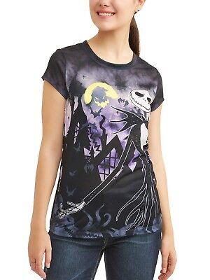 Disney the Nightmare Before Christmas T-Shirt Jack Skellington Halloween XS-3XL