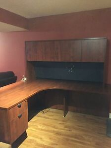 Commercial corner desk unit