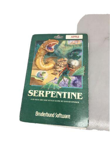 Computer Games - Serpentine Apple II Broderbund vintage computer game Paper Work Only