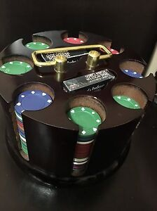 Poker chips and holder  St. John's Newfoundland image 3