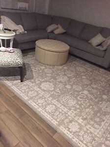 Beautiful Area rug  rug only a few months old taupe Oakville / Halton Region Toronto (GTA) image 1